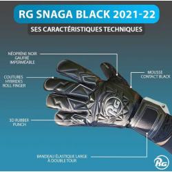 Gants de gardien de but - RG Snaga Black 2021-22